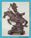 Native American Warrior Figure On Horse