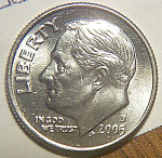 2005-d Roosevelt Dime From Original Bu Roll Coins