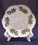 Opalescent Holly Berry Low Bowl