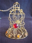 Jeweled Metal Bell Ornament