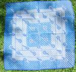 Vintage Retro Ladies Scarf -blue Diagonals