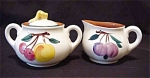 Stangl Festive Fruit Creamer & Sugar Bowl