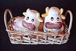 Pair Of Cows Salt & Pepper Shakers