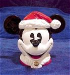 Mickey With Santa Hat Cookie Jar