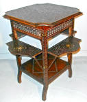 Middle Eastern Moorish Style Carved Hardwood Table C1860