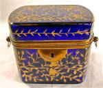 Moser Cobalt Glass Casket Or Box Bohemia C1880