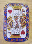 King Of Hearts Enameled Brass Trinket Box