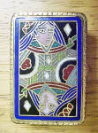 Queen Of Diamonds Enameled Brass Mini-box