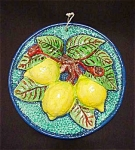 Lemons Pottery Wall Hanging Sicily