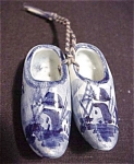 Delft Blue Miniature Pair Of Clogs