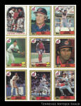 Cleveland Indians 1987 Topps Baseball Cards 9 Pc