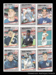 New York Yankees 1980s Baseball Cards 9 Pc