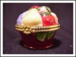 Cbk Porcelain Fruit Basket Hinged Box