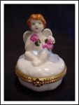 Cbk Porcelain Hinged Box Cherub