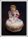 Cbk Porcelain Hinged Box Cherub