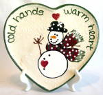 Expressly Yours Snowman Embossed Heart Plate