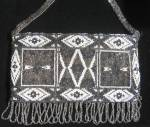 Antique Art Deco Geometric Microbead Purse Handbag