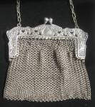 Antique Art Nouveau Ring Mesh Purse & Frame
