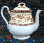 Shelley Tea Pot Storks Herons Yellow Brown Gainsborough Teapot