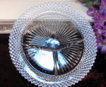 Vintage Hocking Miss America Crystal Dinner Grill Plate