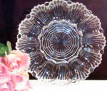 Vintage Anchor Hocking Crystal Deviled Egg Plate Or Server