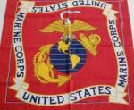 Vintage Us Marine Corp. Head Wrap Doo Rag Bandana 21x21