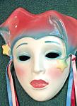 Clay Art Jester Yellow Stars Lady Mask