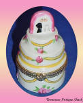 Wedding Cake Porcelain Ring Box