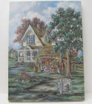 Antique Charm Deleta Siurek Canvas Lithograph With Coa