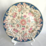Vintage Toyo Trumpet Tapestry Charger Plate