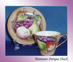 Japan Fruit Teacup And Saucer
