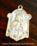 Antique St. Jude Thaddeus Catholic Religious Medal