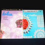 2 Lily Doilies Crochet Pattern Instruction Booklets Circa 1960