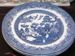 Royal Wessex England Blue Willow Salad Plate