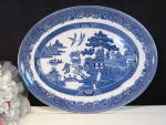 Royal Wessex England Blue Willow Oval Platter