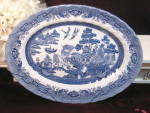 Johnson Brothers Staffordshire England Blue Willow Oval Platter