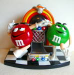 M & M Jukebox Dispenser