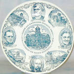 Cadiz Harrison County Ohio Bicentennial Plate