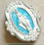 Fancy Our Lady Of Grace And Miracles Miraculous Medal Pin