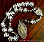 Antique French Chaplet St. Anne Virgin Mary Rosary Beads