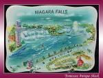 Niagara Falls Canada Vintage Souvenir Dish