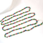 Large Bead Multicolor Mercury Glass Christmas Garland
