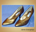 Gold High Heel Stiletto Shoes
