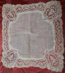 Handmade Limerick Lace Wedding Hankie C1880s