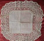 Handmade Bobbin Lace Wedding Hankie 1890s
