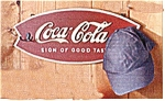 Coca Cola Coke Wood Hat Coat Rack Sign