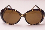 Kenneth J Lane Couture Sunglasses Tortoise Frame 70s/80s