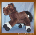 Plushland Horse Dark Brown