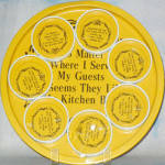 Guests Like My Kitchen Best Metal Tray + Coasters