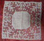 Linen And Carrickmacross Lace Wedding Hanky Circa 1920